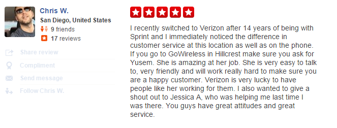 go wireless verizon dealer review