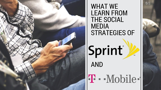 social media strategies sprint tmobile