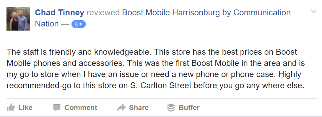 communication nation boost mobile review