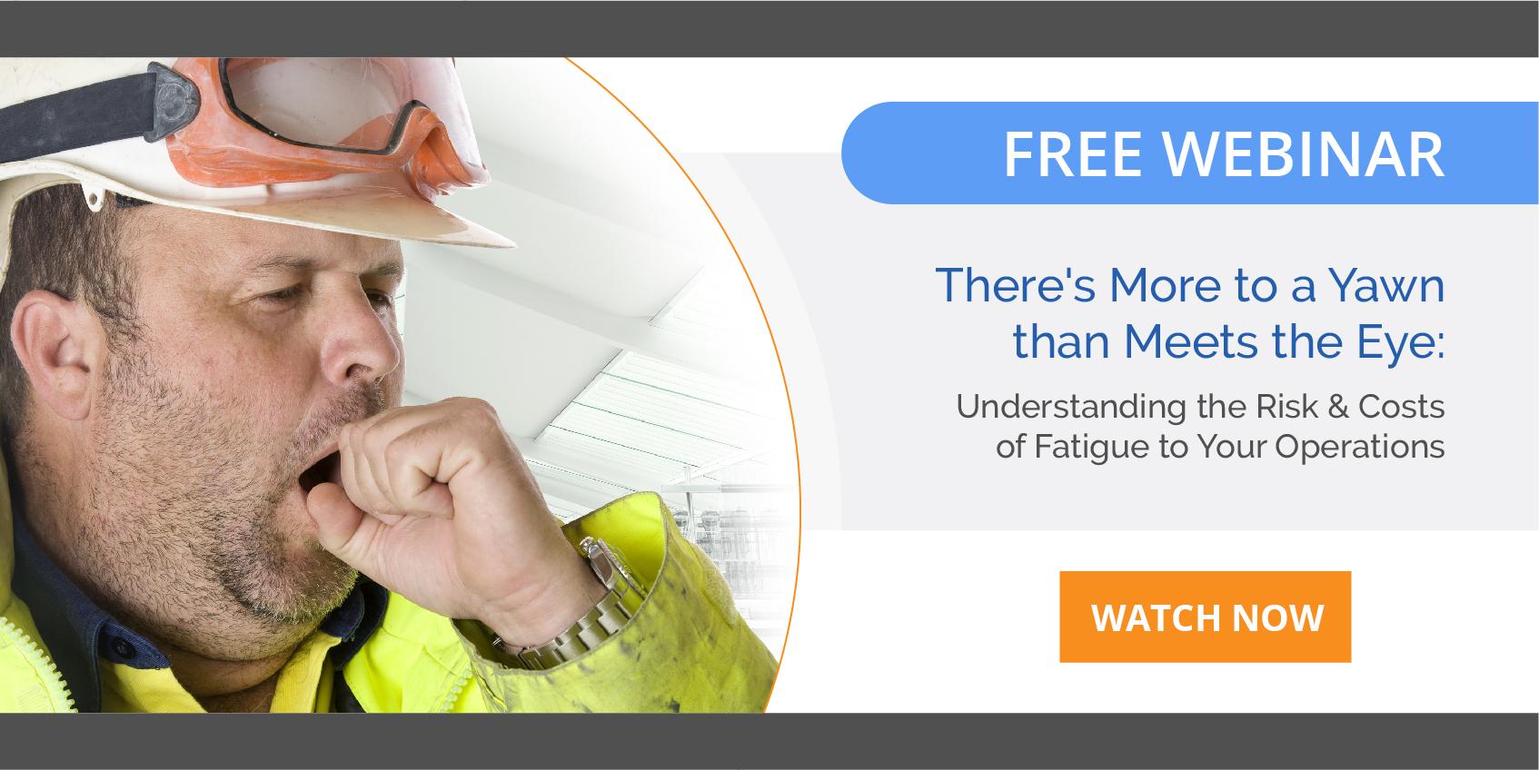 webinar on combating fatigue at work