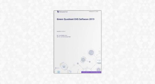 Verdantix Green Quadrant EHS Software 2019