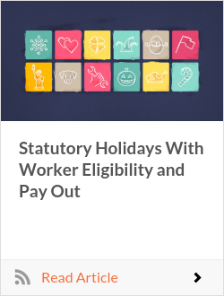 Statutory Holidays With Worker Eligibility and Pay Out