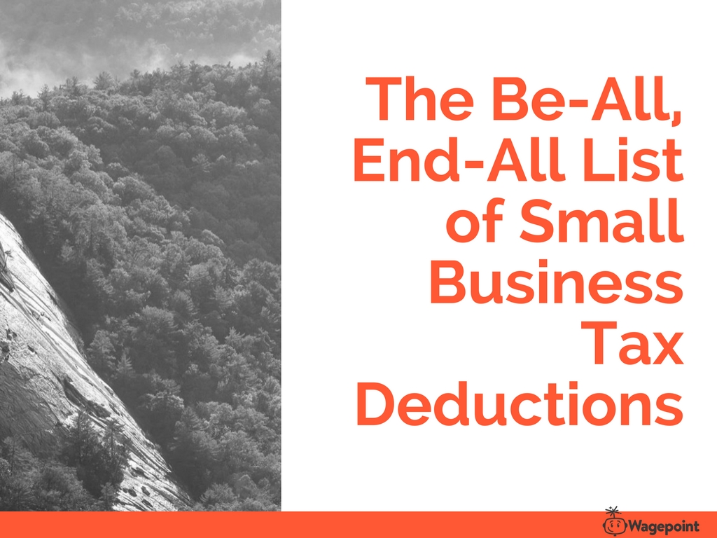The comprehensive list of small business tax deductions if youre a more visual person fandeluxe Images
