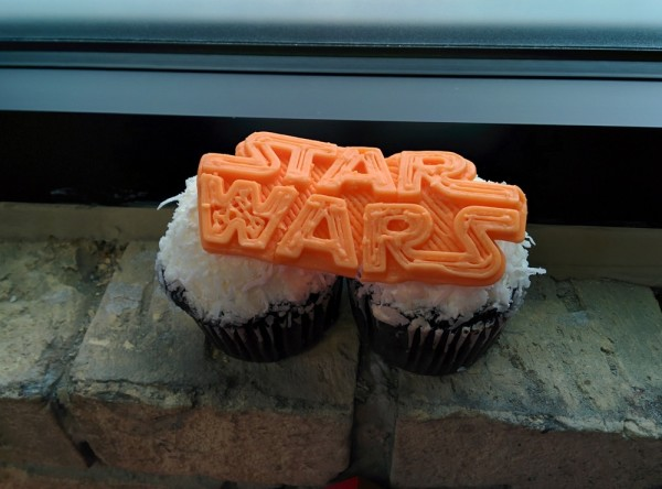 Star Wars 3D printing cupcake