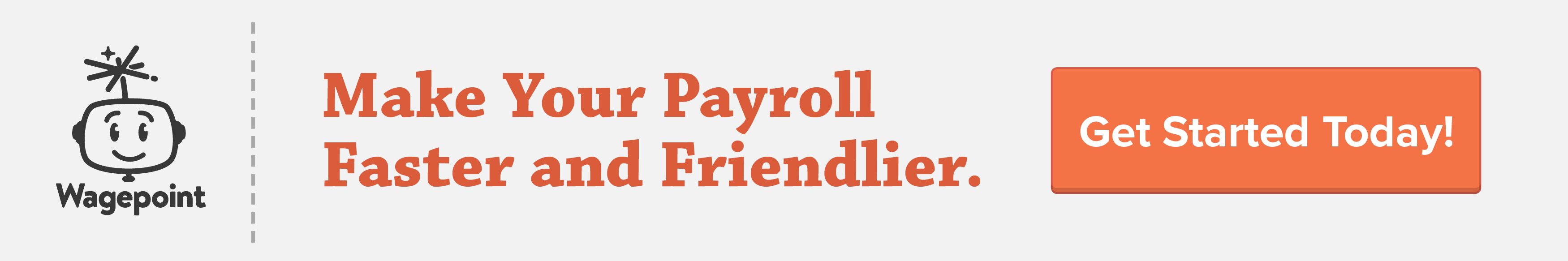 Wagepoint payroll software get started banner
