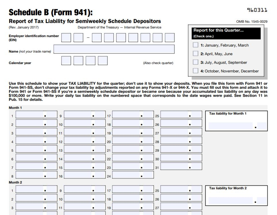 wagepoint what is form 941 schedule B example