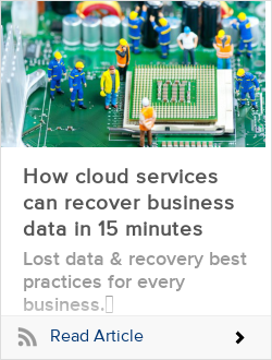How cloud services can recover business data in 15 minutes