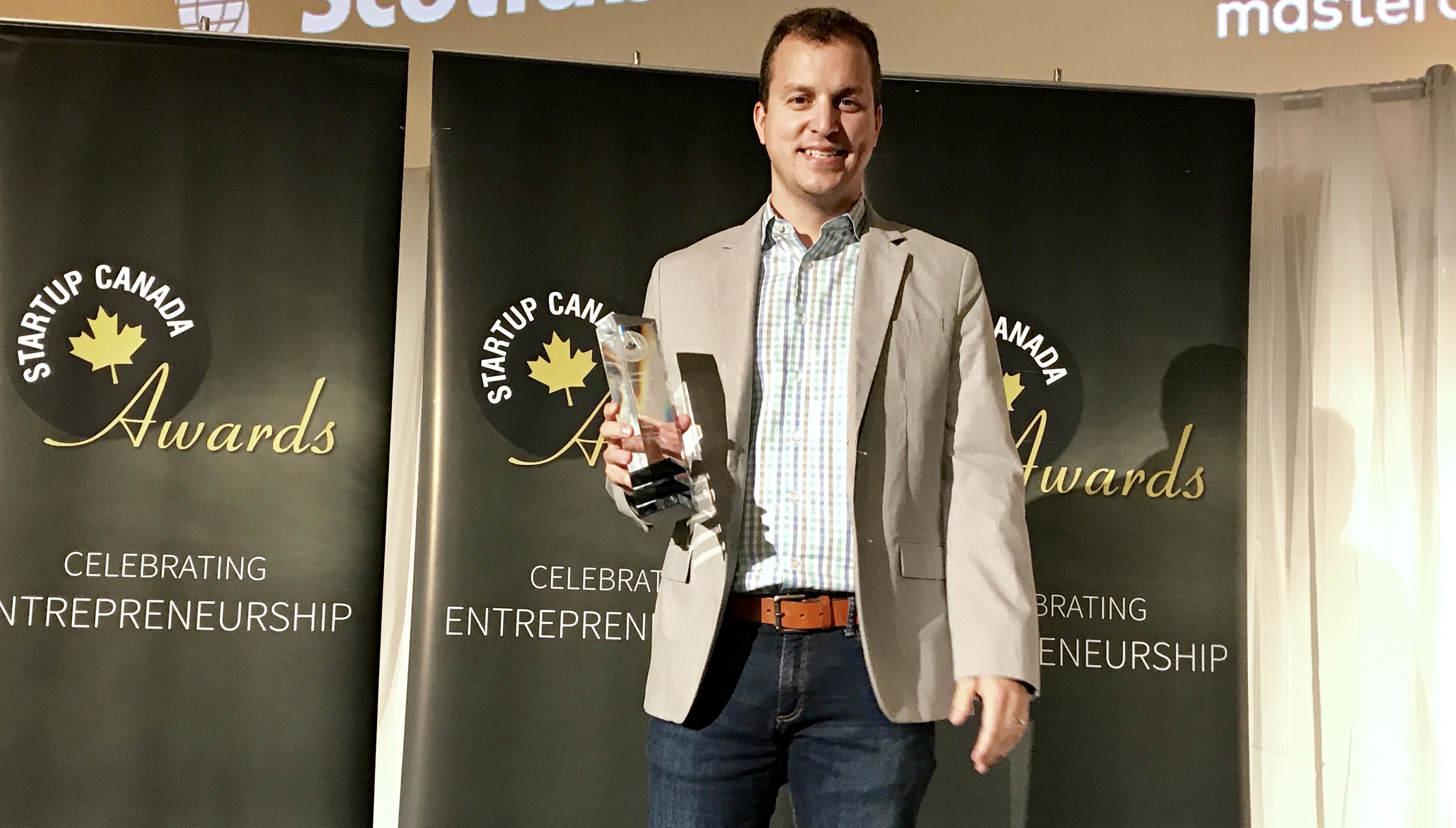 Chris Johnson of Permission Click wins Startup Canada Award