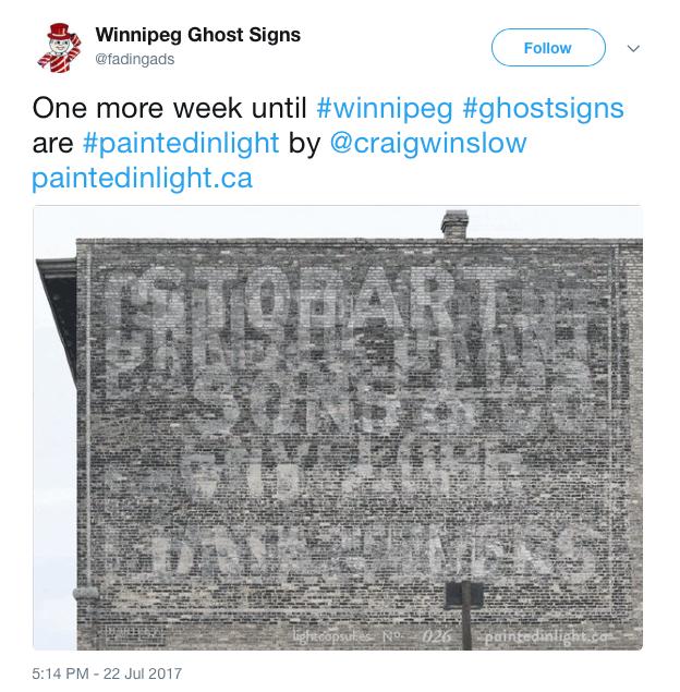 Ghost Signs promo tweet