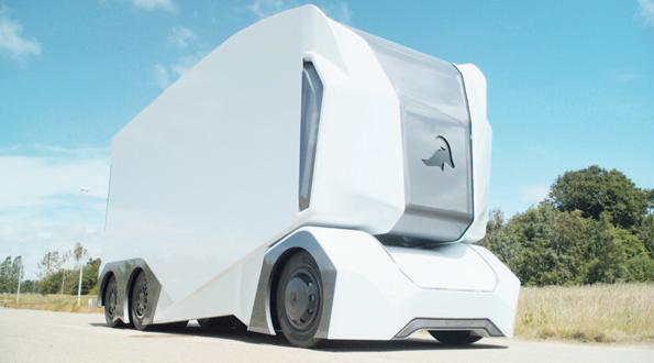 Windowless, seatless autonomous truck