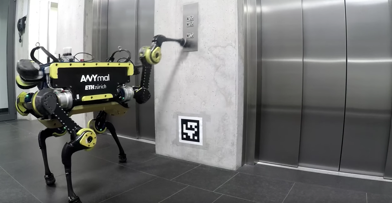 ANYmal robot takes the elevator