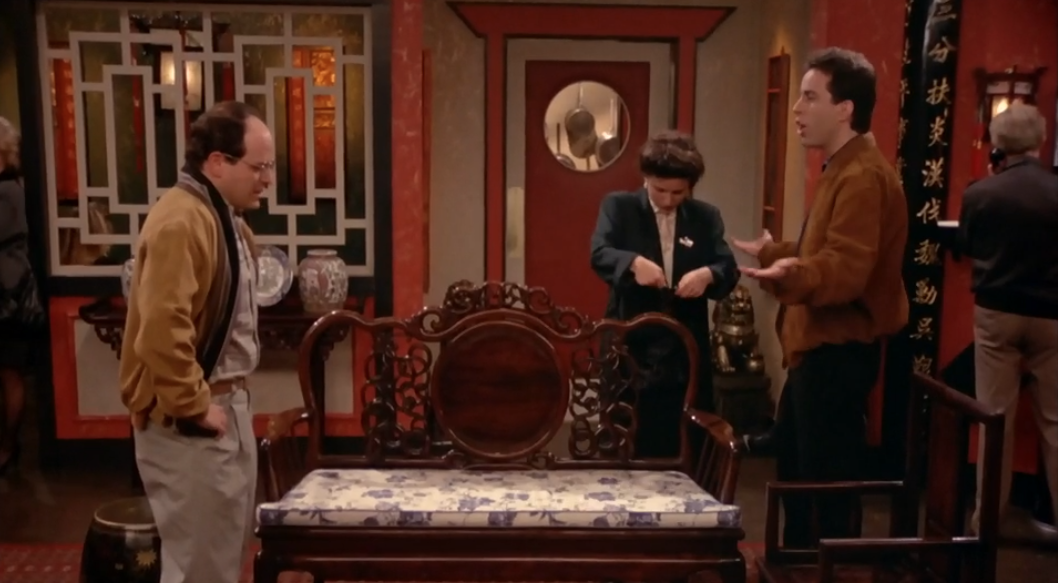 """SEINFELD """"What, am I gonna make sarcastic remarks to strangers?"""""""