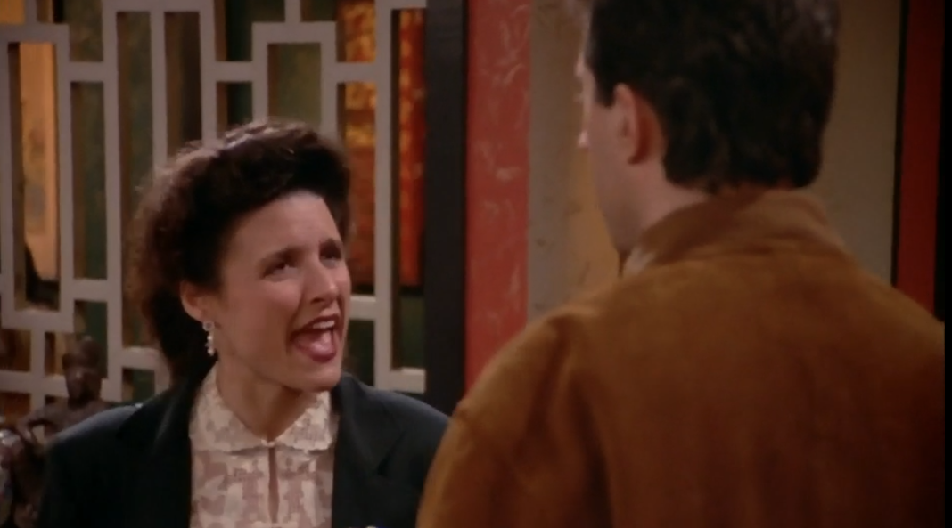 """SEINFELD """"Eat it in the cab? Chinese food in a cab?"""""""