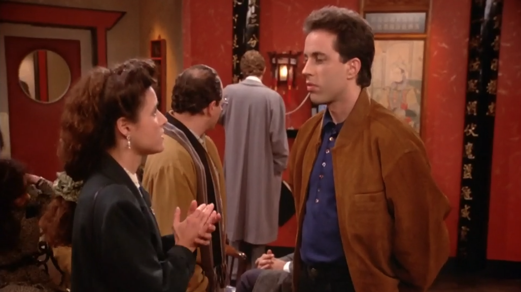 """SEINFELD """"Jerry, get menus so when we sit down we'll be able to order right away."""""""
