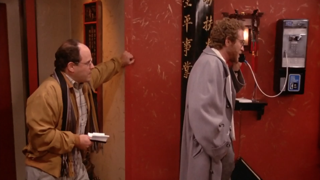 """SEINFELD """"I can't go anywhere, I have to wait here for Tatiana's call."""""""