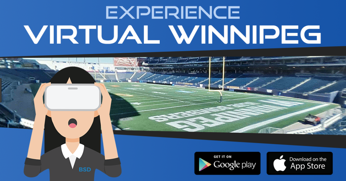 The Winnipeg VR app