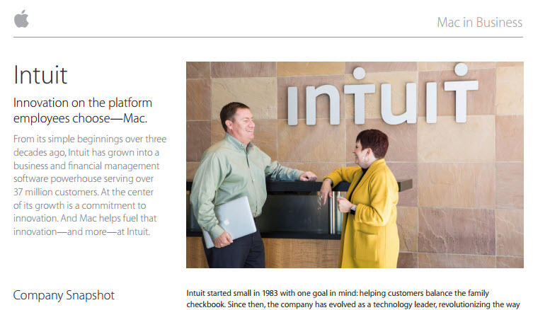Intuit - Innovation on the Platform employees choose Mac.