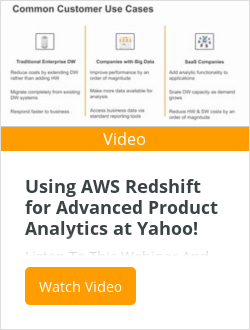 Using AWS Redshift for Advanced Product Analytics at Yahoo!