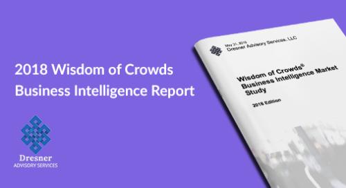 Dresner Wisdom of Crowds® BI Market Study 2018