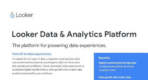 Looker Platform for Data Experiences