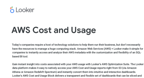 AWS Cost and Usage