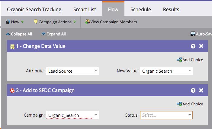 Lead source organic search marketo