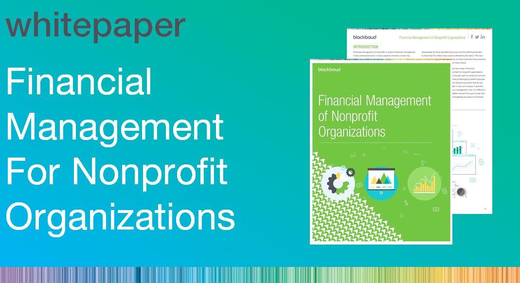 Financial Management of Nonprofit Organizations