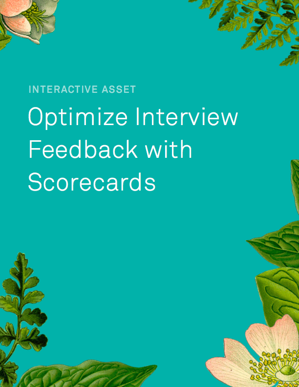 Interactive Scorecard for Interview Feedback