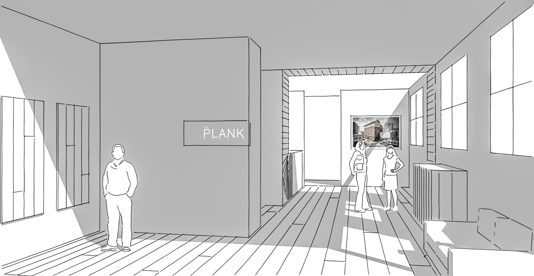 The Plank Studio Columbus Interior Rendering