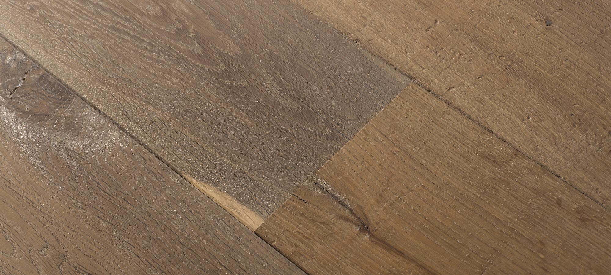 European Oak Cobbled Surface Wide Plank Flooring Texture