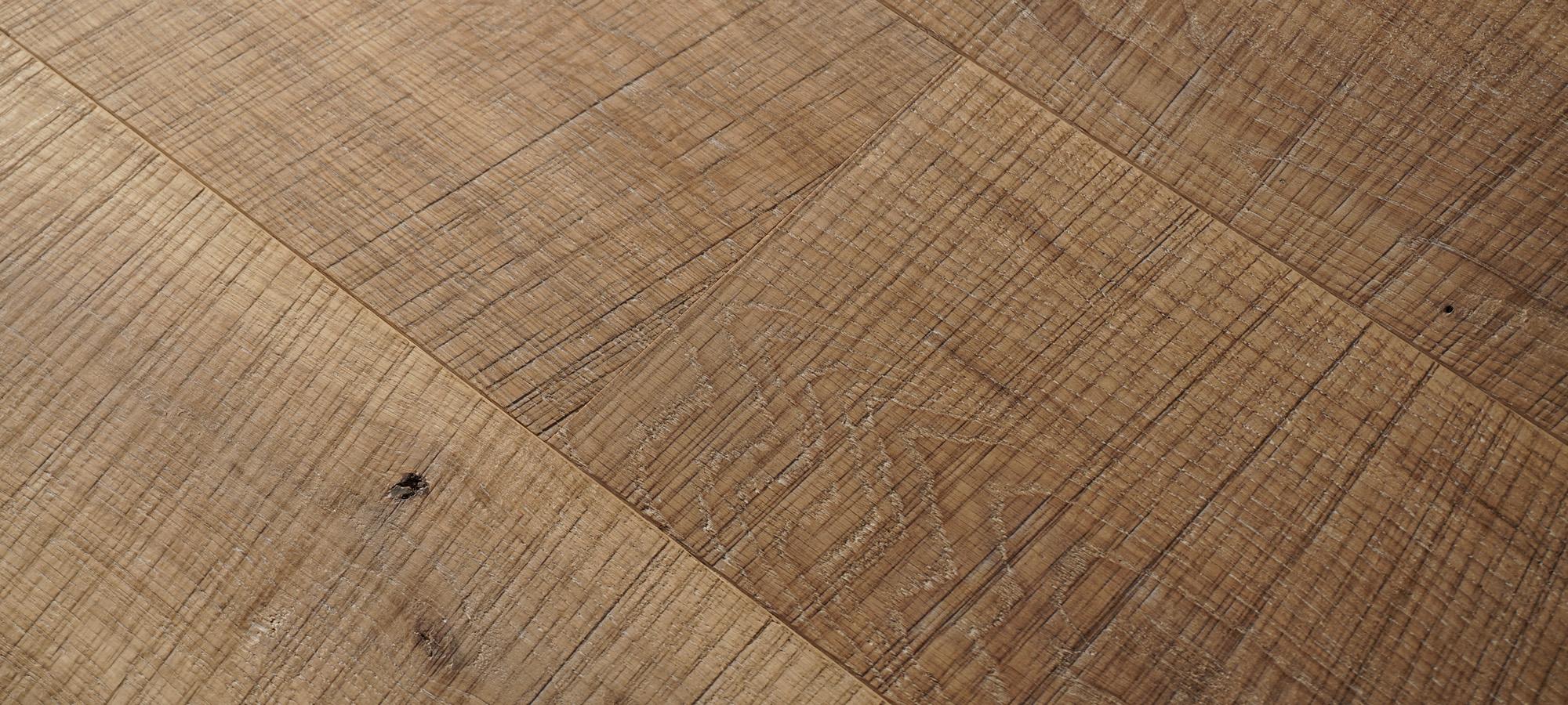 Sawn Surface European Oak Wide Plank Flooring