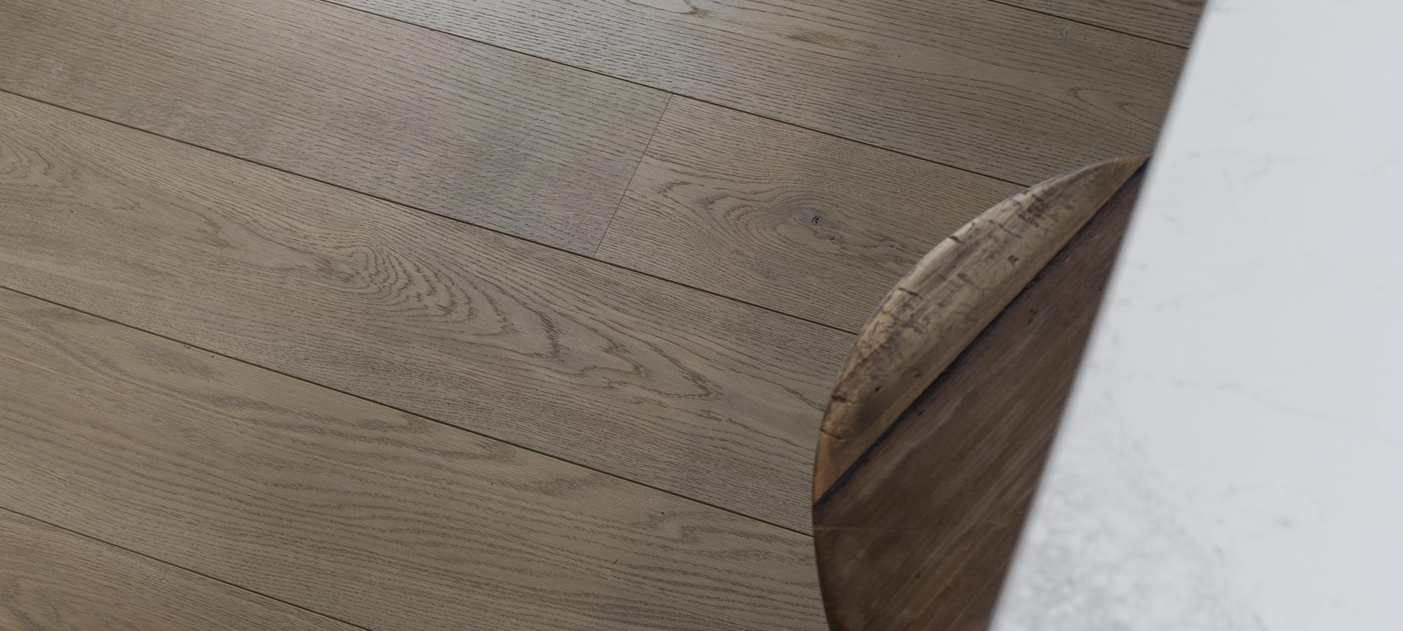 Planed Surface European Oak Wide Plank Flooring Texture