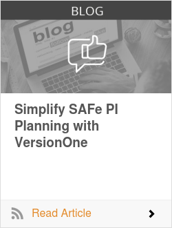 Simplify SAFe PI Planning with VersionOne