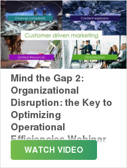 Mind the Gap 2: Organizational Disruption: the Key to Optimizing Operational Efficiencies Webinar