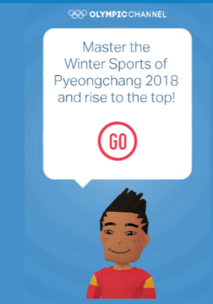 Screenshot from Olympics website
