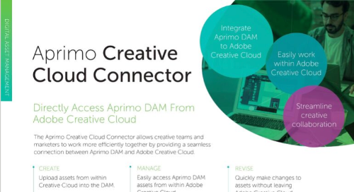 Aprimo Creative Cloud Connector Data Sheet