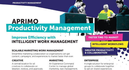 Aprimo Productivity Management Product Data Sheet