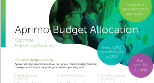 Aprimo Budget Allocation Data Sheet