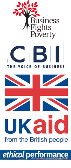 Business Fights Poverty, CBI, DFID, Ethical Performance logos