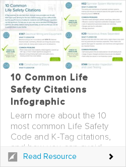 10 Common Life Safety Citations Infographic