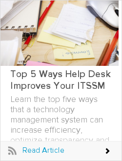 Top 5 Ways Help Desk Improves Your ITSSM