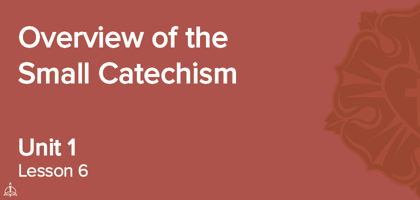Lesson 6 - Overview of the Small Catechism | CPH 60-Week Confirmation Curriculum