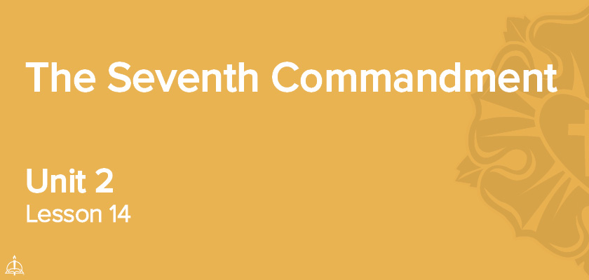 Lesson 14 - The Seventh Commandment | CPH 60-Week Confirmation Curriculum