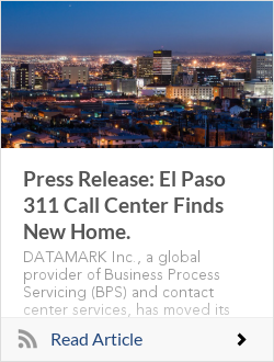 Press Release: El Paso 311 Call Center Finds New Home.