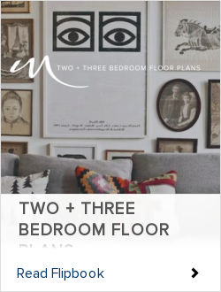 TWO + THREE BEDROOM FLOOR PLANS
