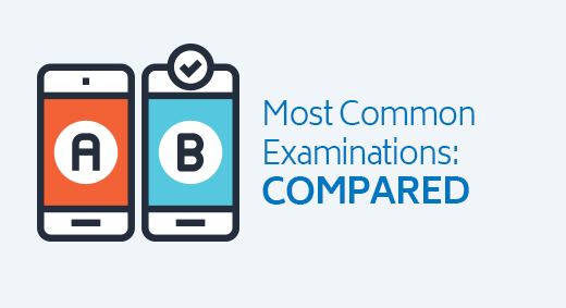 Most Common Examinations: Compared