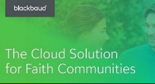 The Cloud Solution for Faith Communities
