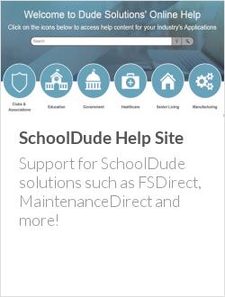 SchoolDude Help Site