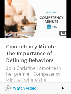 Competency Minute: The Importance of Defining Behaviors