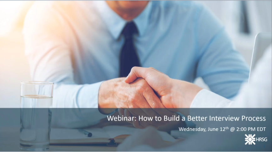 webinar on building a better interview process